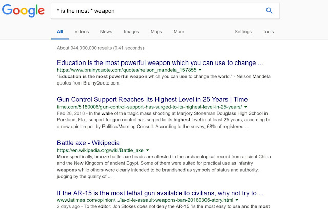 google searchtip using asterik