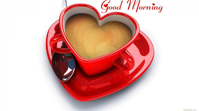 Tea Or Coffee In Beautiful Red Heart Cup HD Wallpaper