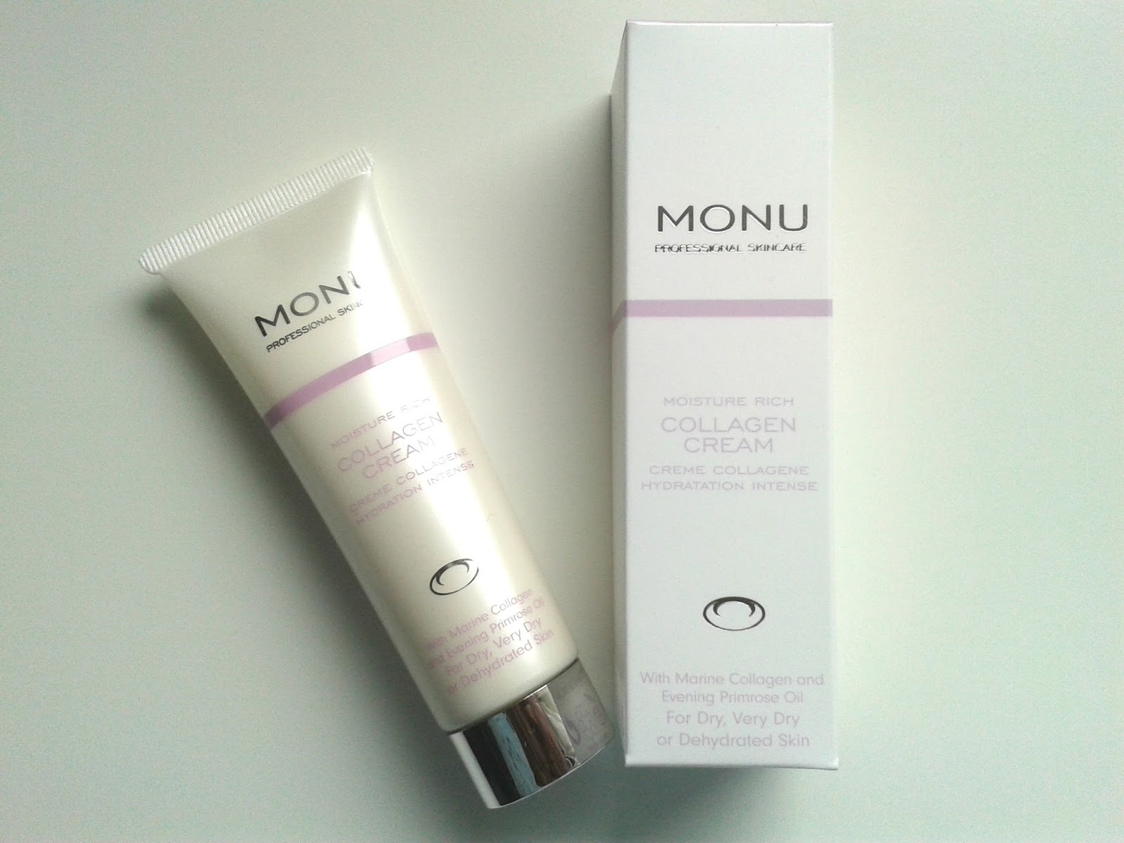 MONU Professional Skincare Collagen Cream Review Swatch