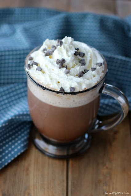 Homemade Hot Chocolate with whipped cream recipe from Served Up With Love