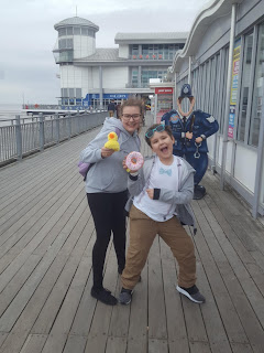 Top Ender and Dan Jon Jr with our Pier Winnings