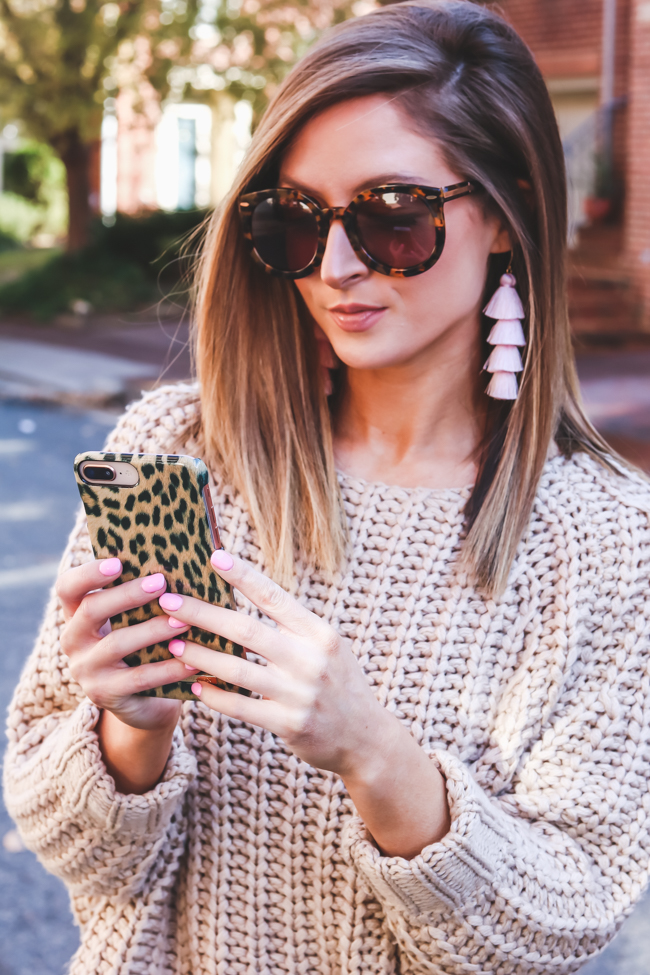 ideal of sweden phone case with kut from the kloth sweater
