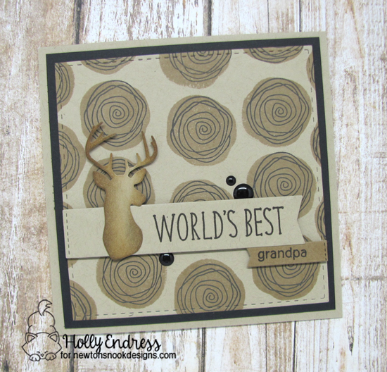 World's Best Grandpa card by Holly Endress | Simply Relative and Lovely Blooms Stamp sets & Splendid Stags Die Set by Newton's nook Designs #newtonsnook