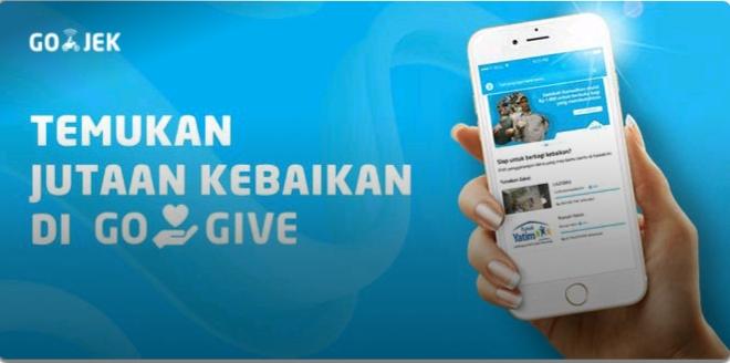 GO-GIVE, Layanan Zakat Online dari GOJEK