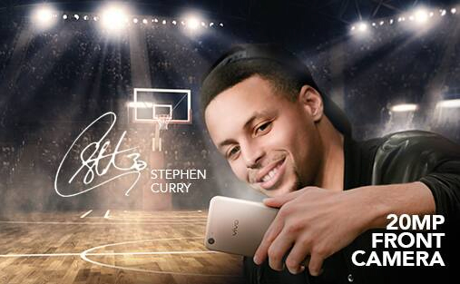 Vivo V5 stephen curry selfie