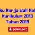 Buku Kerja Wali Kelas Kurikulum 2013 Tahun 2018