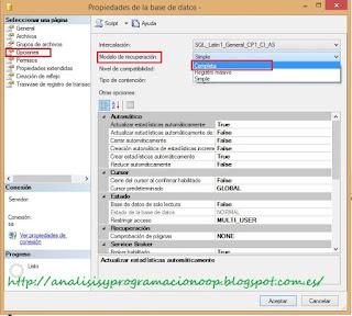 modo de recuperación completa, SQL Server