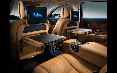 Jaguar XJ premium luxury sedan interior image