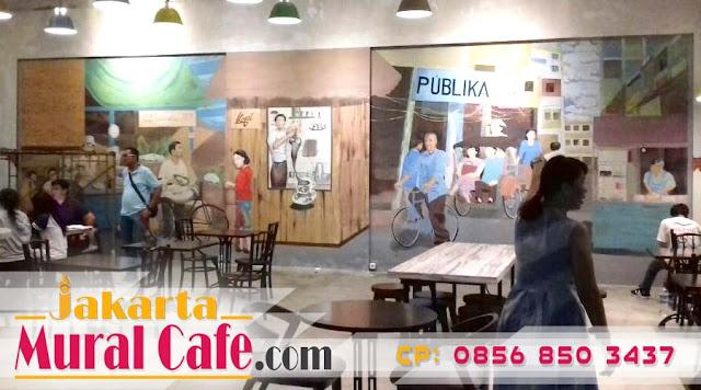 Jasa mural jakarta pelukis mural cafe mural cafe for Mural untuk cafe