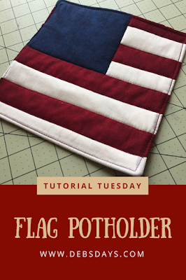 Homemade July 4th Flag Potholder Sewing Project