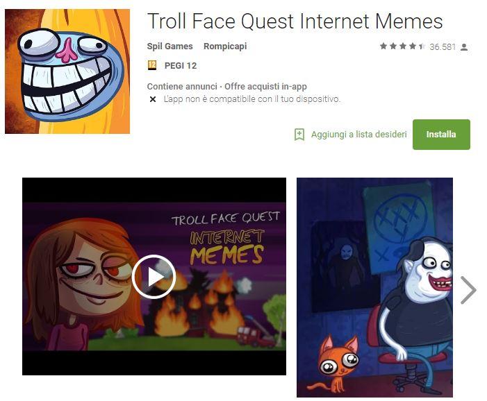 Soluzioni Troll Face Quest Internet Memes