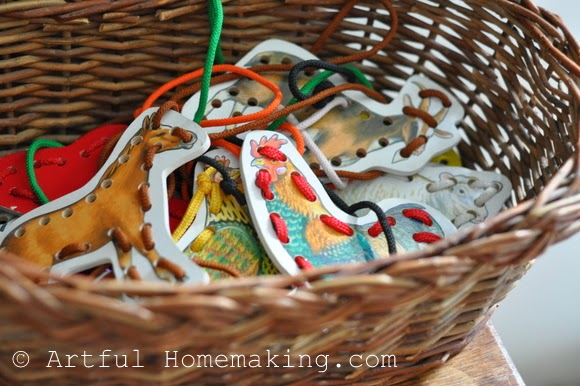 Fine Motor Coordination: Keeping Little Ones Hands Busy. Farm animal lacing cards
