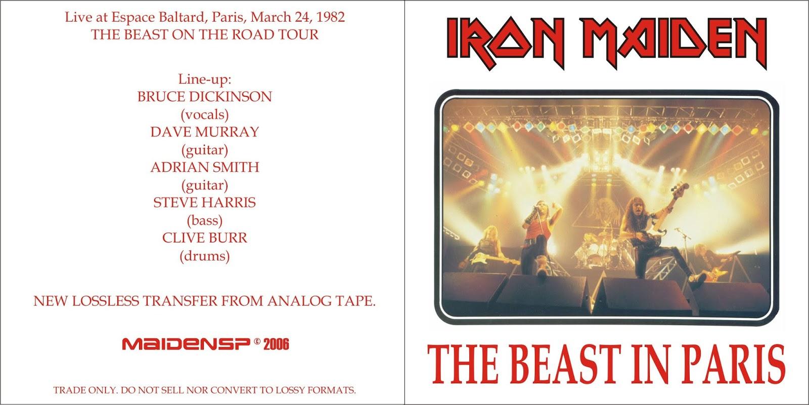 HEAVY-ROCK BOOTLEGS: Iron Maiden:1982-03-24-Pavillon Baltard