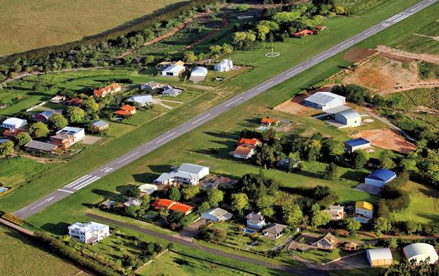 Condomínio com aeródromo