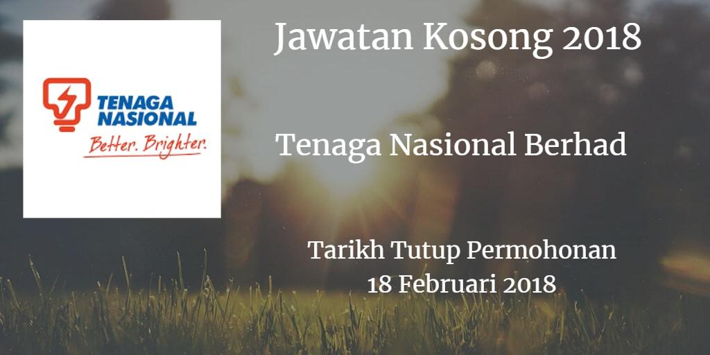 Jawatan Kosong TNB 18 Februari 2018