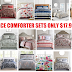 3 Piece Comforter Sets Full, Queen or King $17.99, 8 Piece Comforter Sets $27.99