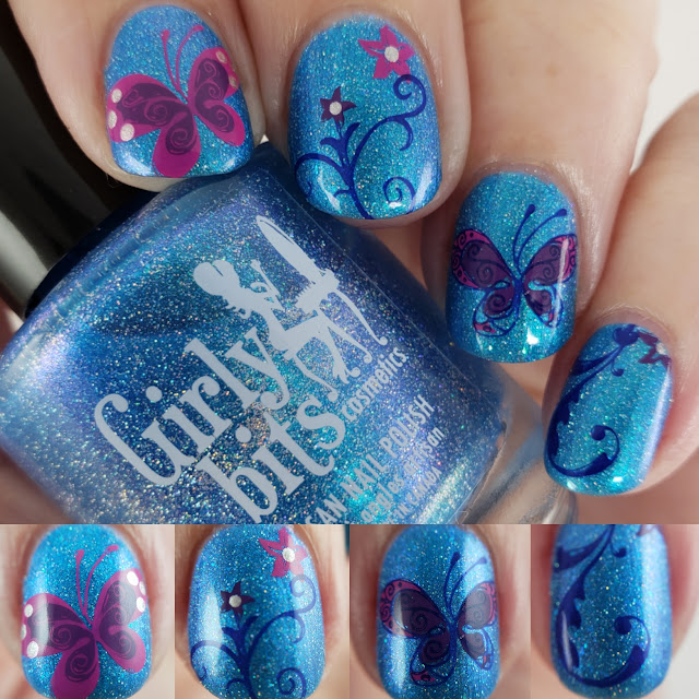 girly bits, cotm, cyan, colour of the month, indie nail polish, indie polish