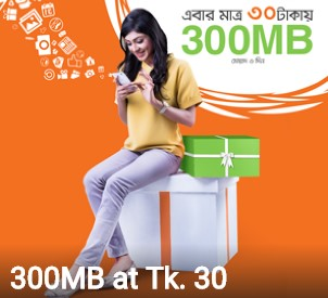Banglalink 300 MB Internet 30 TK Offer