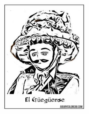 El Güegüense dibujo para colorear