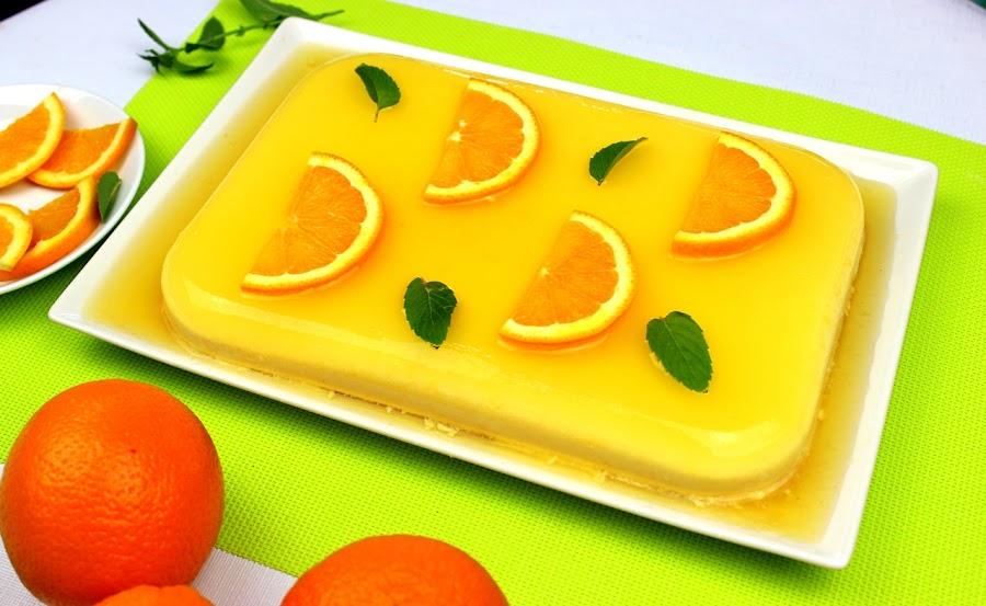 Tarta fría de naranja. Julia y sus recetas