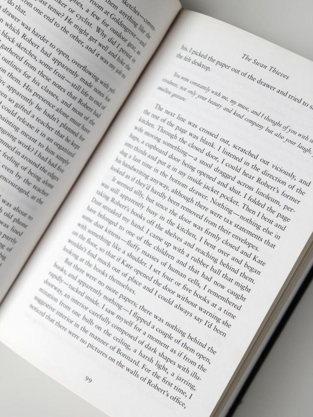 99 Page Test - The Swan Thieves, Elizabeth Kostova
