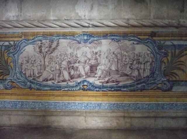 azulejos nel refettorio del monastero dos Jerónimos