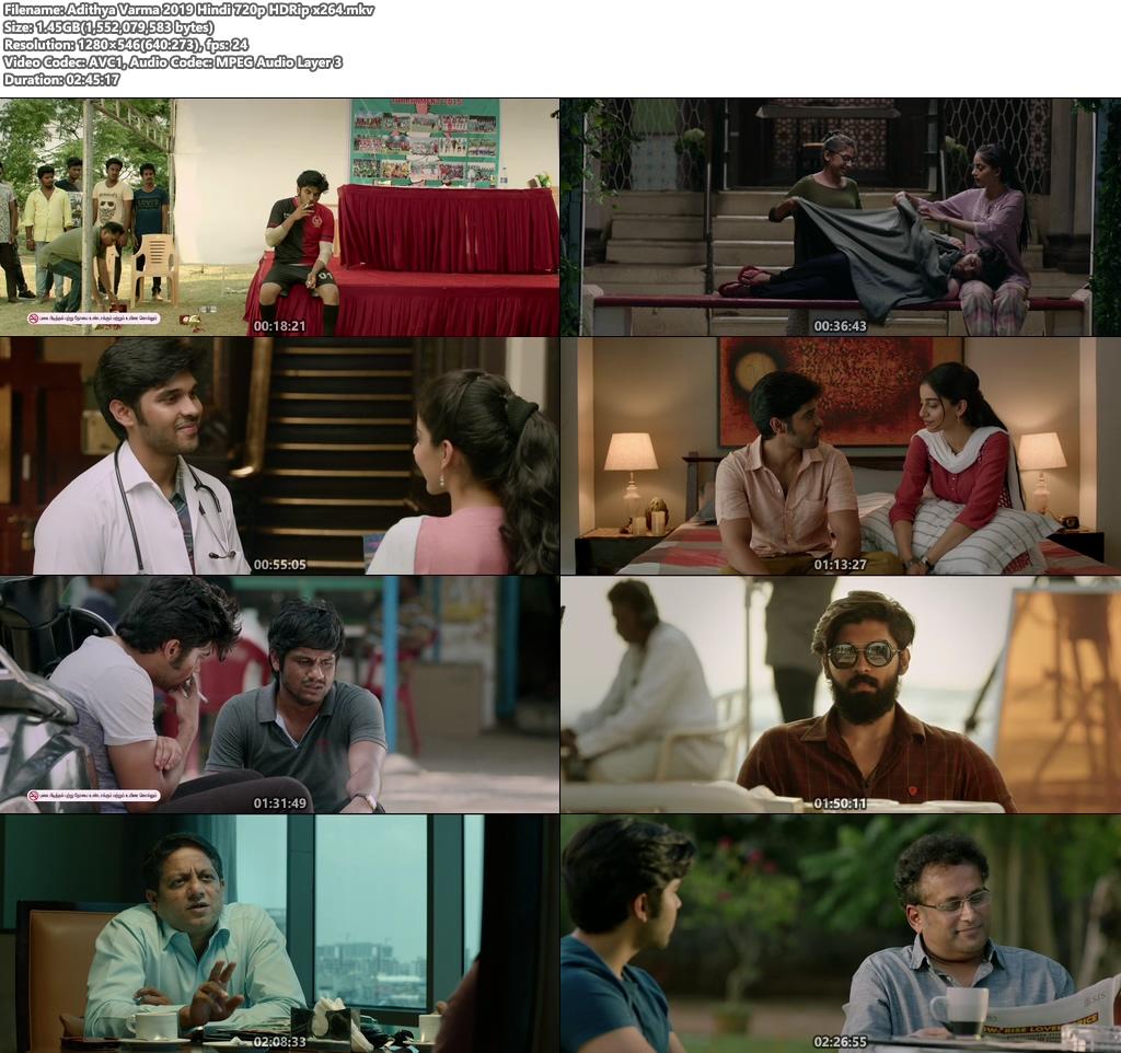 Adithya Varma 2019 Hindi 720p HDRip x264   480p 300MB   100MB HEVC Screenshot