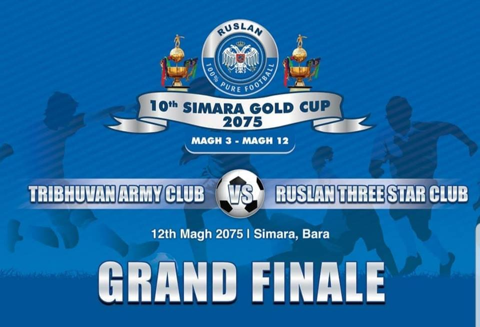 10th Simara Gold Cup|  Final |  Three Star Club Vs Nepal Army | LIVE