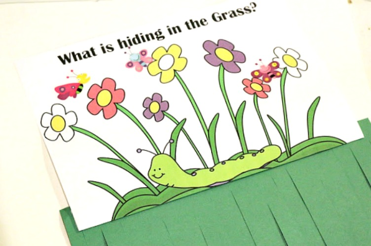 spring preschool scissor skills activity