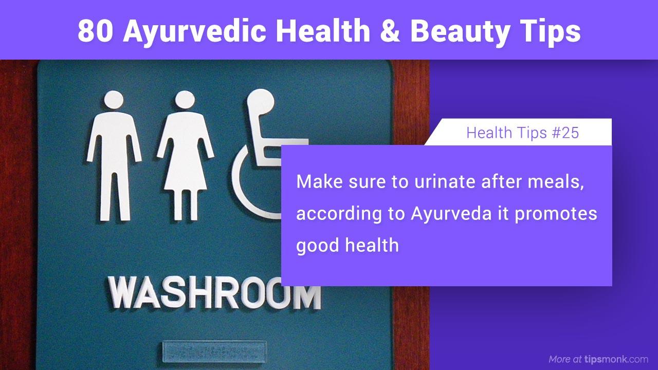 Ayurvedic health tips image - Tipsmonk