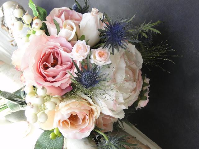 pink bridesmaid faux bouquet The Camellia