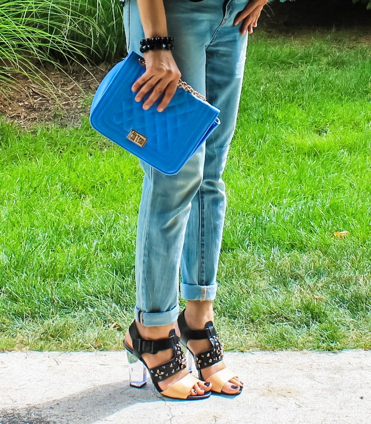 Tube Top, Blazer, Boyfriend Jeans, Block Heels, Summer 2014, Outfit Ideas, What I wore, Outfits, Indian, Fashion Blogger, Fashion, Style, Fashion Trends,