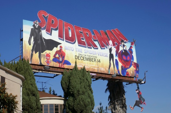Spider-Man Spider-Verse billboard