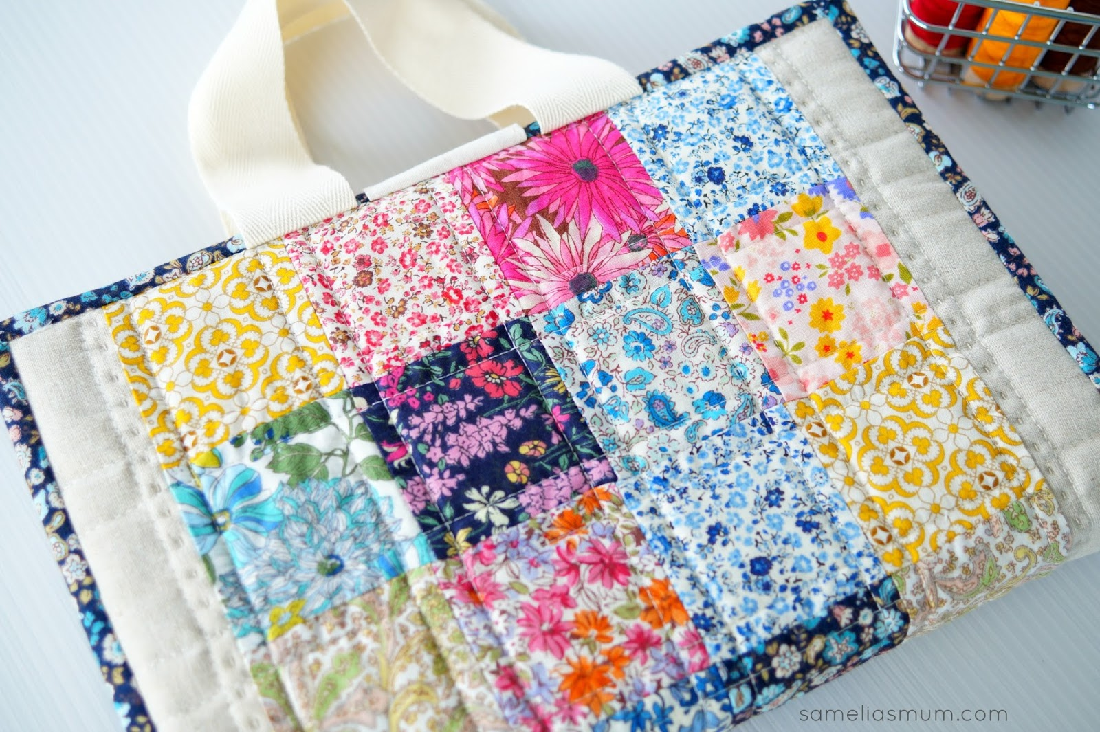 Free Book Cover Design Tutorial ~ Quilted book bag cover tutorial samelia s mum