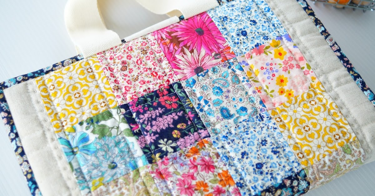 Patchwork Book Cover Pattern ~ Samelia s mum quilted book bag cover tutorial