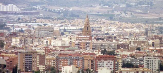 Vistas de Murcia desde el Santuario de la Fuensanta.