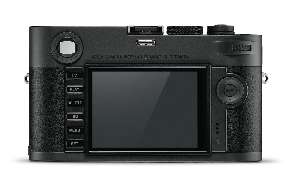 Leica M Monochrom (Typ 246) Stealth Edition - вид сзади