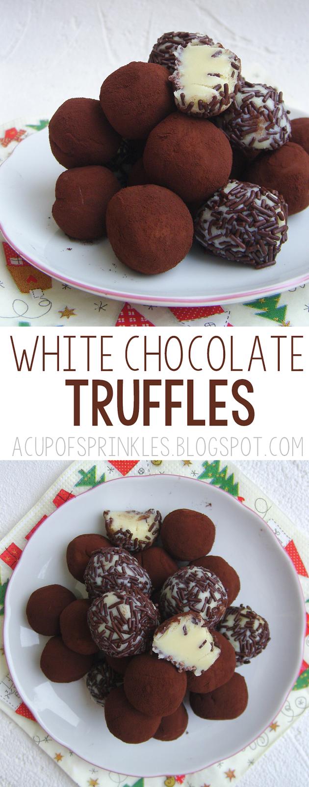 White Chocolate Truffles no bake 4 ingredients