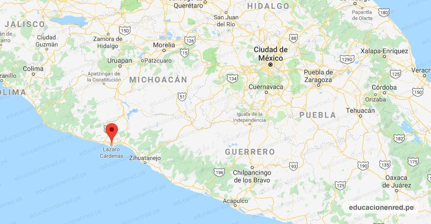 Temblor en México de Magnitud 4.1 (Hoy Miércoles 17 Junio 2020) Sismo - Epicentro - Lázaro Cárdenas - Michoacán de Ocampo - MICH. - SSN - www.ssn.unam.mx