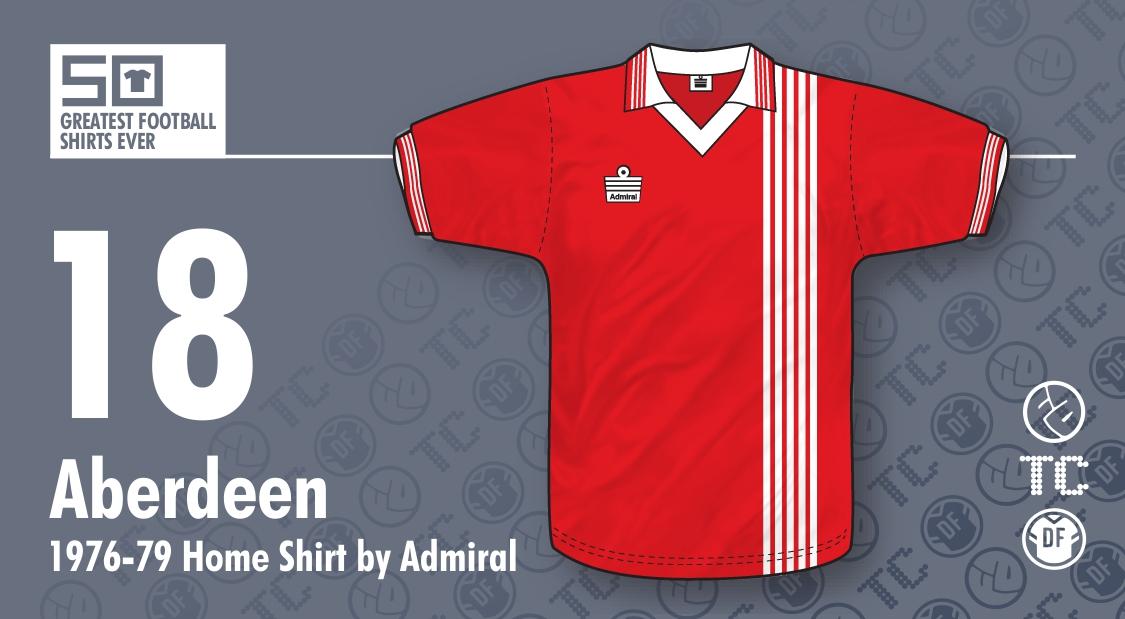 b74da5a41a 50GFSE] #18 - Aberdeen 1976-79 Home Shirt by Admiral ~ The Football ...