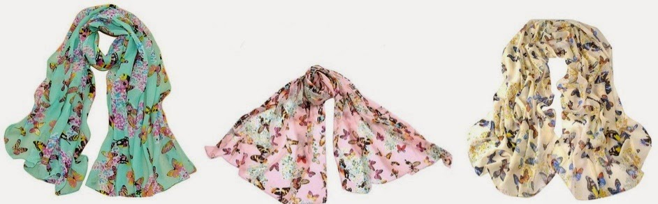 Butterfly Scarves as low as $2...
