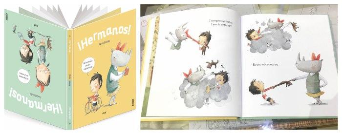 cuentos infantiles rivalidad, relación Libro hermanos de rocio bonilla algar ediciones