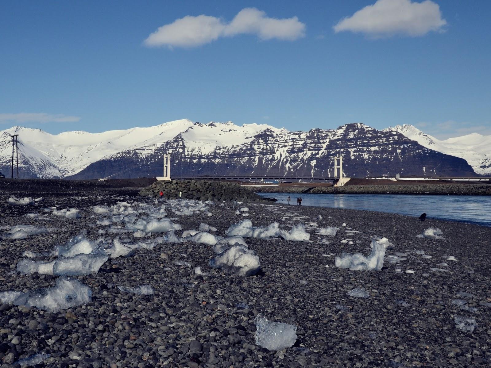 Jokulsa, rzeka, islandzka rzeka, Laguna Lodowcowa, Islandia, Ice Lagoon, Jokulsarlon, lodowiec, jezioro, panidorcia, blog o Islandii