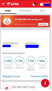 Airtel 300 Mb Data Trick/Offer - Download App and Get Free 3g Data January 2016
