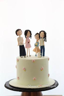 fondant figure aile pastası
