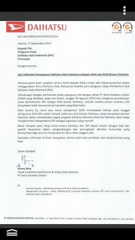 Club 'Daihatsu Ayla Indonesia Binaan Astra Daihatsu Motor