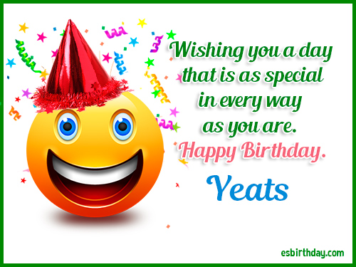 Yeats Happy Birthday