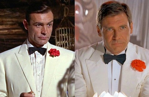 Indiana Jones Temple Doom Goldfinger James Bond 007 white tuxedo tux spielberg lucas disney lucasfilm