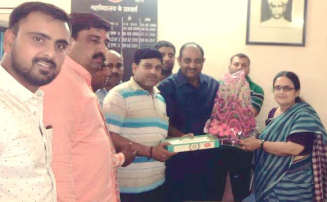 newly-appoint-principal-prita-kaushik-welcome-faridabad