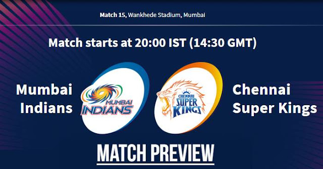 VIVO IPL 2019 Match 15 MI vs CSK Match Preview, Head to Head and Trivia